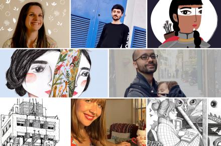 #MePintaIlustrar: Bruno Sucurado, Pibe Caramba, Mariana Otero y Pilar Centeno
