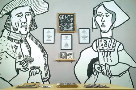Libro colectivo con dibujos de retratos del Pettoruti